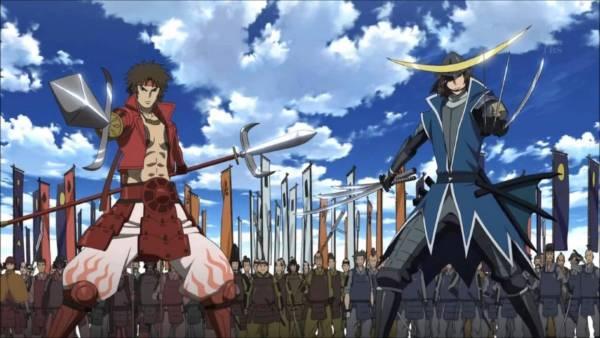 Sengoku Basara- Melhores Animes de Samurai
