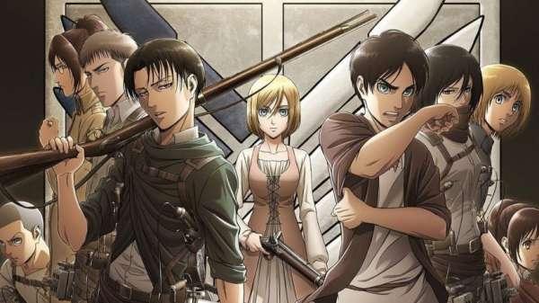 Attack on Titan - Melhores Animes de Guerra