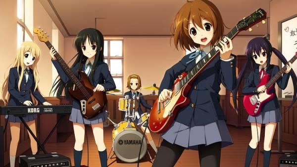 K-On! - Melhores Animes de Música
