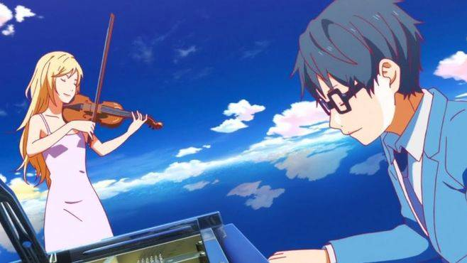 Your Lie in April - Melhores Animes de Música