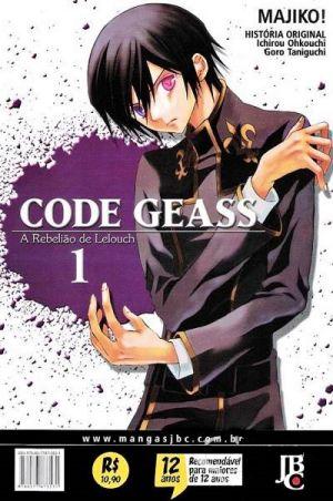Code Geass A Rebelião de Lelouch Mangá